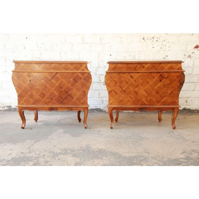 Inlaid Italian Bombay Chest Nightstands - a Pair For Sale - Image 11 of 12