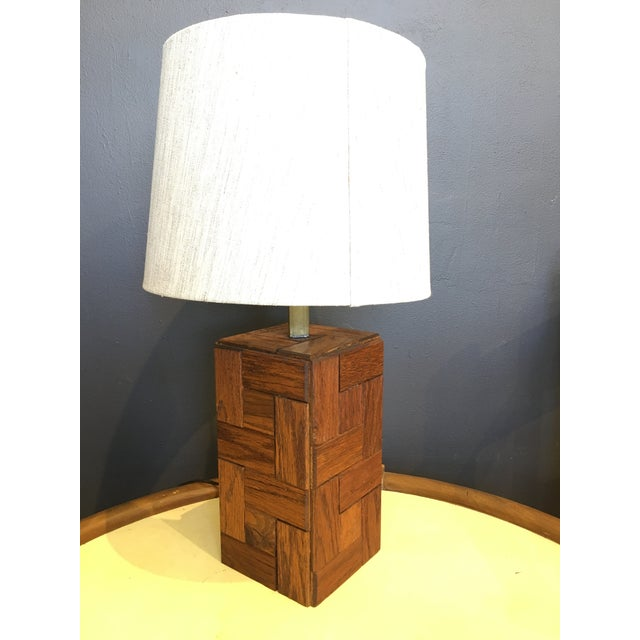 Mid-Century Hand Crafted Wood Table Lamp For Sale - Image 10 of 10