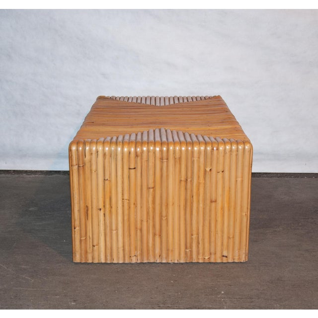 Rattan Circa 1950 Vintage Japanese Rattan Waterfall Coffee Table For Sale - Image 7 of 8