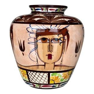 Vintage Porcelain Faces Women Vase by Arroyabe Suraj Costa Rica