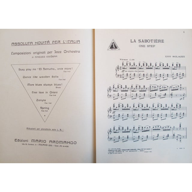 Italian 1925 Italian Music Sheet La Sabotiere For Sale - Image 3 of 6