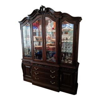 American Drew China Cabinet & Base For Sale