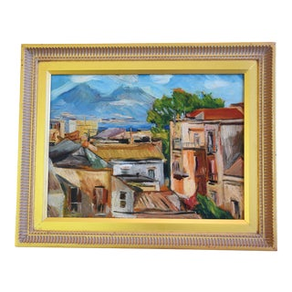 Paolo Ricci Mediterranean Village & Seaport Oil Painting For Sale