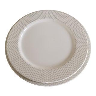 Villeroy & Boch Janda Diamond White Premium Porcelain Round Flat Plates - A Pair