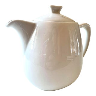 Mid-Century Scandinavian White Teapot with Spout From Rorstrand For Sale