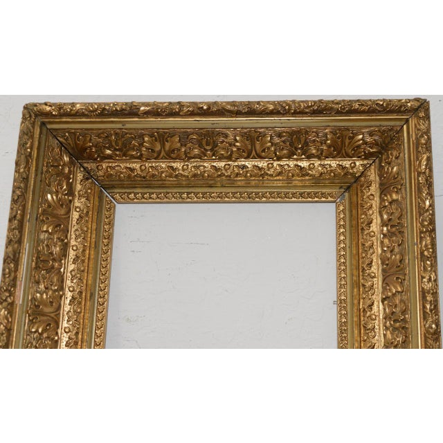 Late 19th Century Carved, Gesso & Gilded Frame c.1890s | Chairish