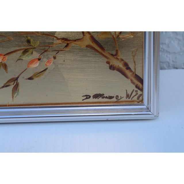 La Barge Mid-Century Modern Hand Painted Chinoiserie Mirror For Sale - Image 9 of 11