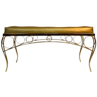 Glam Hollywood Regency Bench by George Koch and Sons For Sale