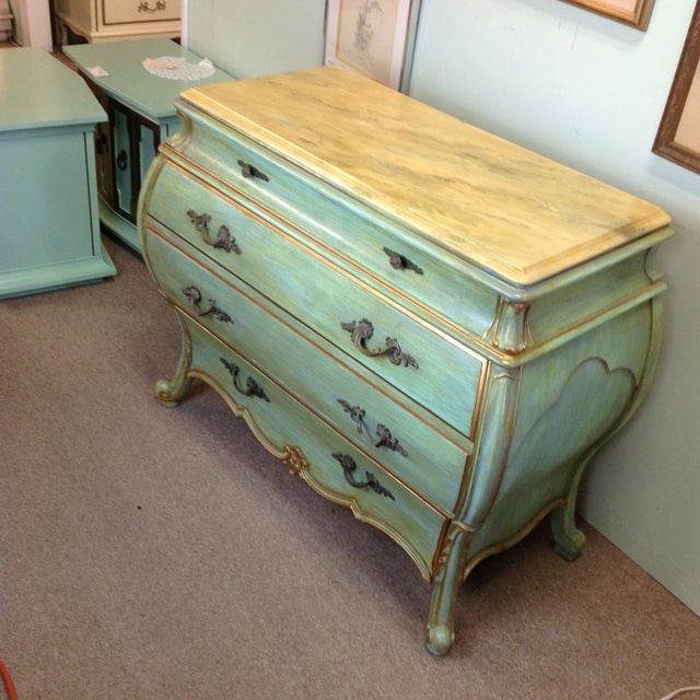 Large Light Green Painted Chest - Image 3 of 8