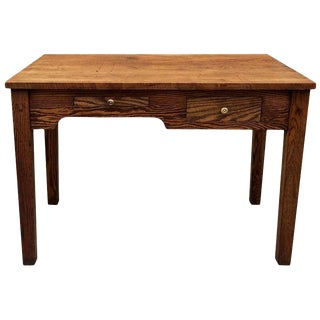 Early 20th Century Industrial Oak Engineer Foreman's Desk For Sale