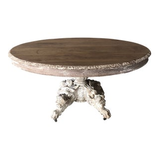 1940s Vintage French Oval Table