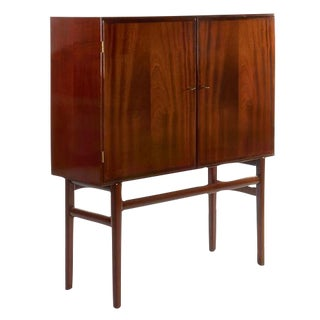 OLE WANSCHER MAHOGANY BAR CABINET, CIRCA 1950S For Sale