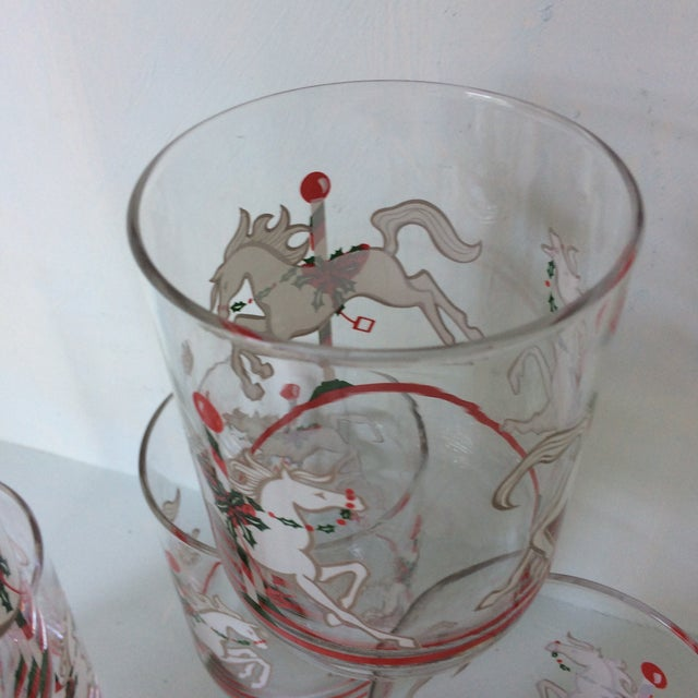 Libbey Merry-Go-Round Glasses - Set of 6 For Sale - Image 11 of 13