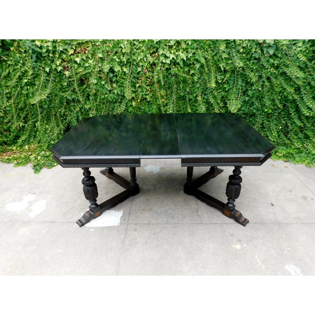 Antique Spanish Revival Carved Dining Table For Sale - Image 9 of 12