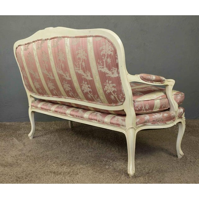 Louis XV Style Settee With Painted Finish - Image 5 of 11