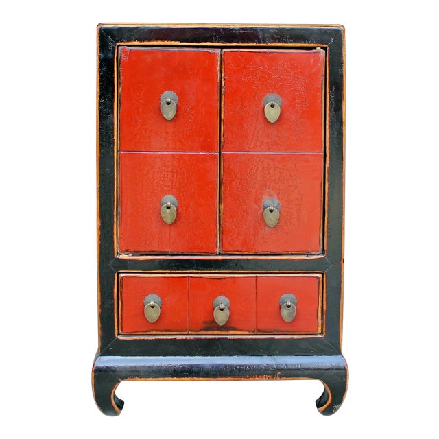 Chinese Black & Red Lacquer Cabinet - Image 1 of 6