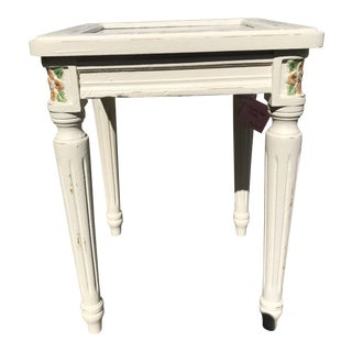 1960s Marble-Top Accent Table For Sale