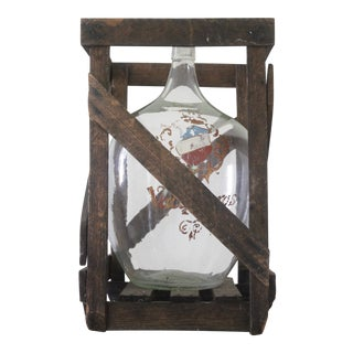 Antique French Demi-John Bottle For Sale