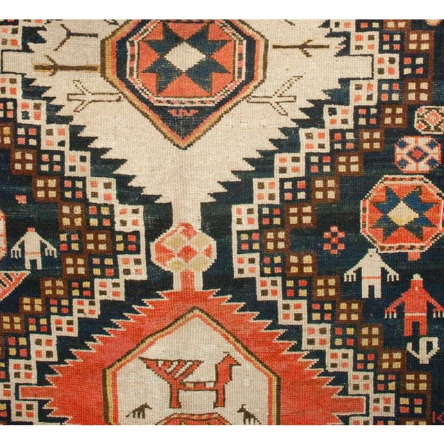 "Early 20th Century Early 20th Century Karabagh Rug - 54"" x 113"" For Sale - Image 5 of 6"