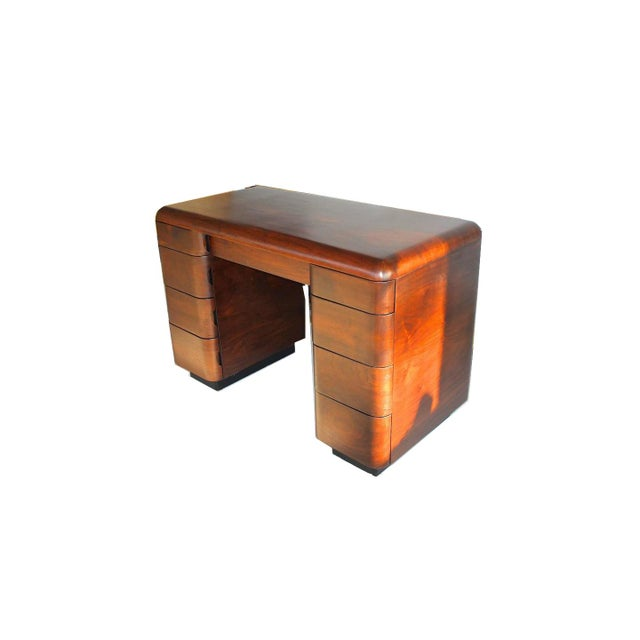 Modern 1940's Paul Goldman Bent Plywood Desk for Plymold Corp For Sale - Image 3 of 8
