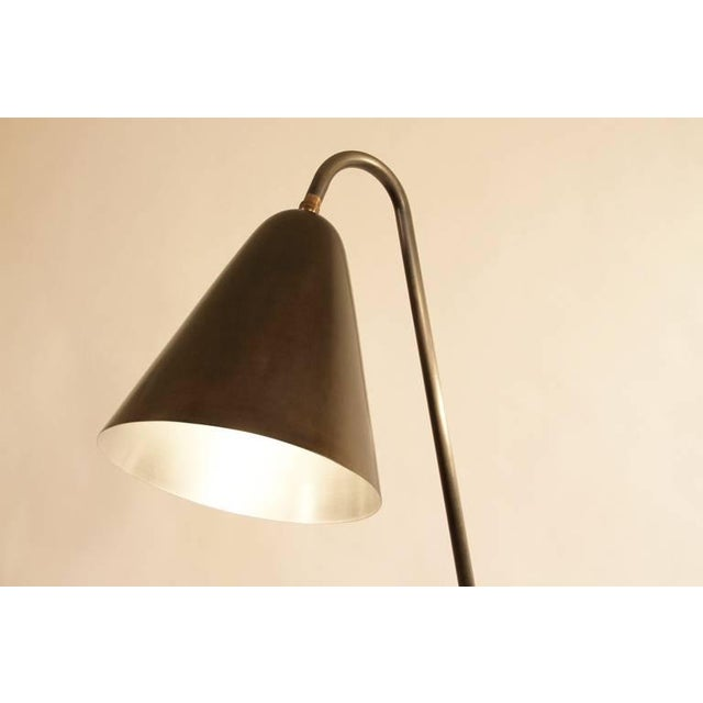 Blackened Steel Cone Shade Floor Lamp - Image 3 of 3