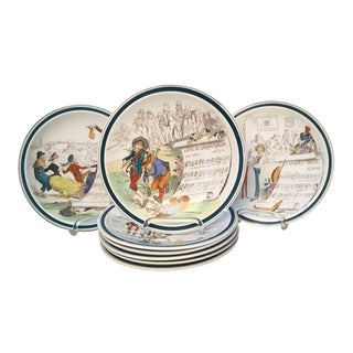 """French """" Opera"""" Plates - Set of 8 For Sale"""