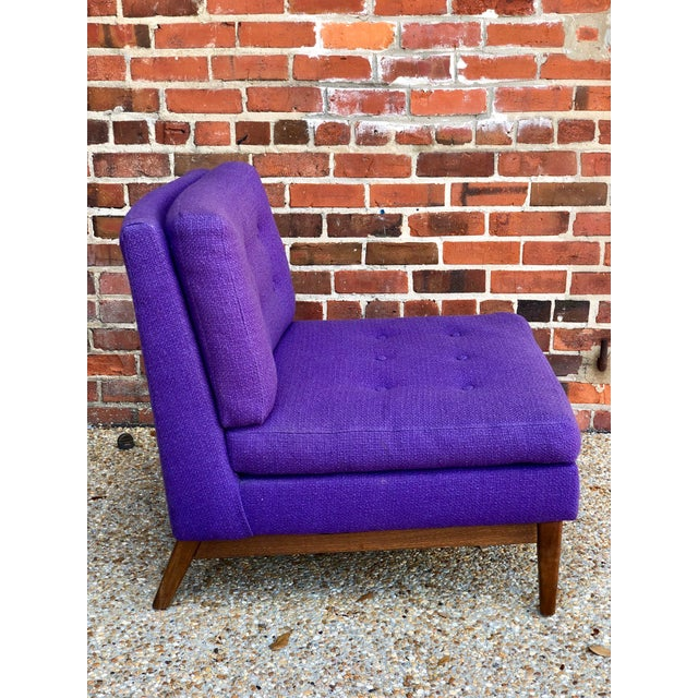 0604bd4c9cf5b Mid Century Purple Lounge Chair For Sale - Image 4 of 6