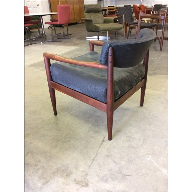 Gray Adrian Pearsall for Craft Lounge Chairs & Ottoman For Sale - Image 8 of 11