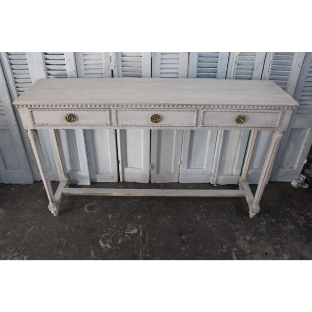French 20th Century Vintage French Louis XVI Style Console For Sale - Image 3 of 12