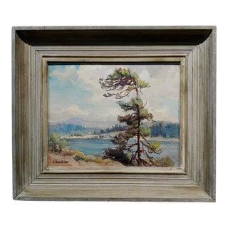Evylena Nunn Miller -McKenzie River Landscape in Oregon -1930s Impressionist Oil Painting For Sale
