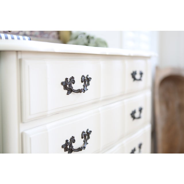 Shabby Chic French Provincial Highboy Dresser - Image 4 of 6