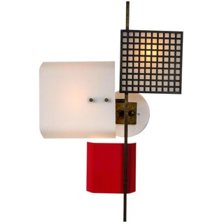 1950s Italian Oscar Torlasco for Lumi 3-Panel Wall Light For Sale