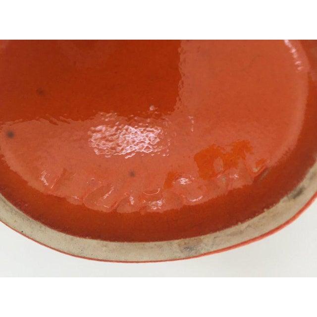 1960s ceramic West German Studio pottery vase, Germany Bauhaus. Midcentury ceramic fat lava glaze volcanic pottery vase in...