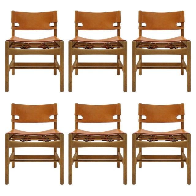 "1960s Vintage Børge Mogensen ""Hunting"" Chairs- Set of 6 For Sale - Image 11 of 11"