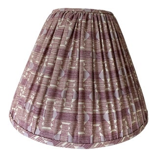 Plum Fermoie Pleated Lampshades- a Pair For Sale