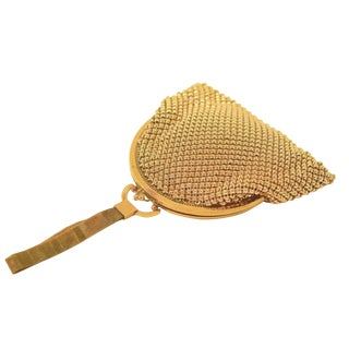 Whiting & Davis Flapper Style Gold Mesh Purse For Sale