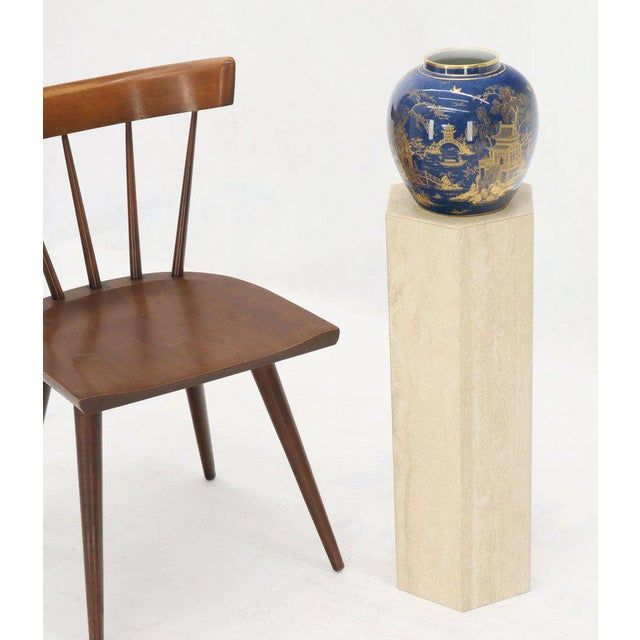 Mid-Century Modern Travertine Marble Tall Tower Shape Table Pedestal For Sale - Image 9 of 13