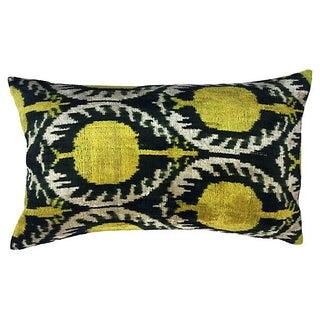 Pomegranate Ikat Velvet Pillow