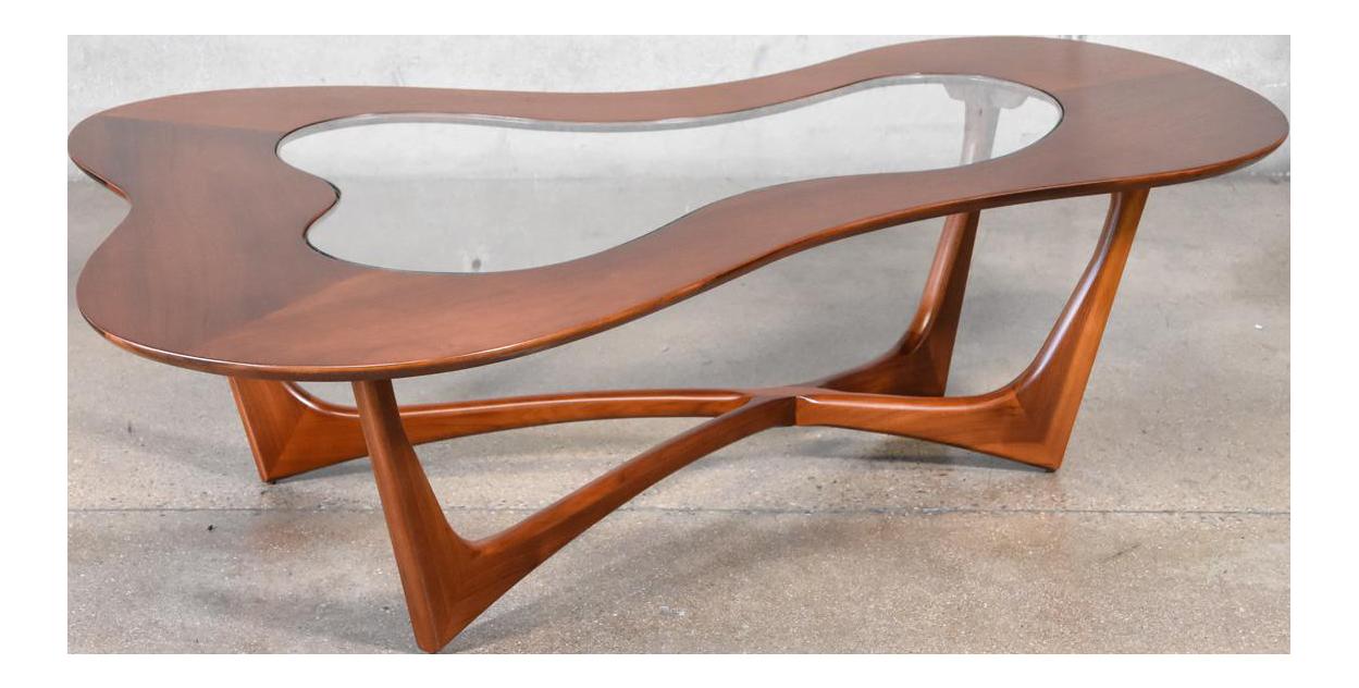 Genial Erno Fabry Biomorphic Walnut Coffee Table