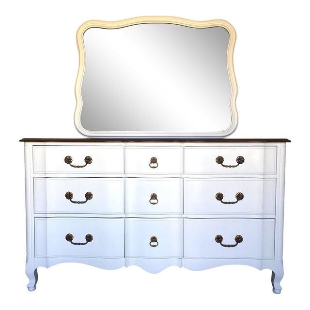 French Provincial White Dresser Mirror Chairish