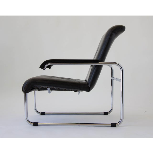 Marcel Breuer for Thonet B35 Leather Lounge Chair - Image 3 of 9