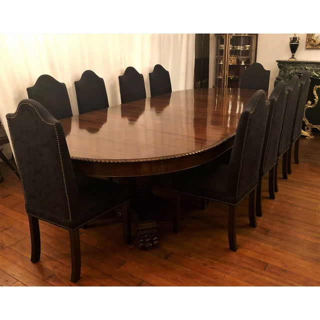 Mid 19th Century Exceptional Antique Old New Orleans Mahogany Dining Table From Local Estate