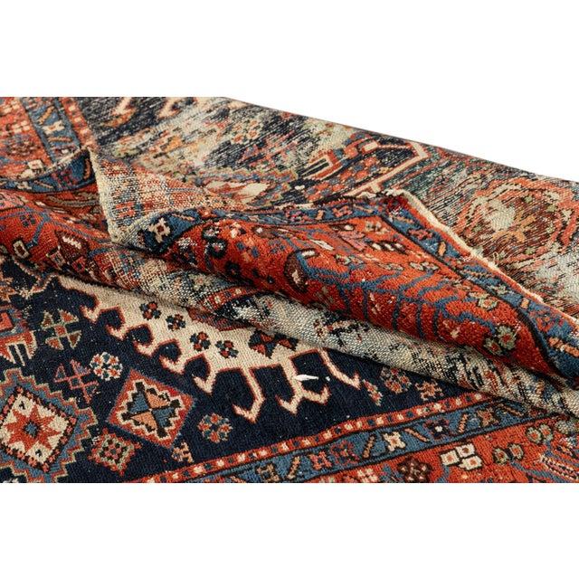 "Antique Persian Heriz Rug, 4'6"" X 6'2"" For Sale - Image 4 of 9"