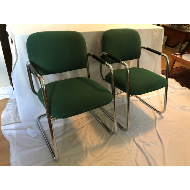Cramer Cantilever Armchairs - A Pair - Image 4 of 8