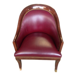 Furniture Masters Studded Side Chair For Sale