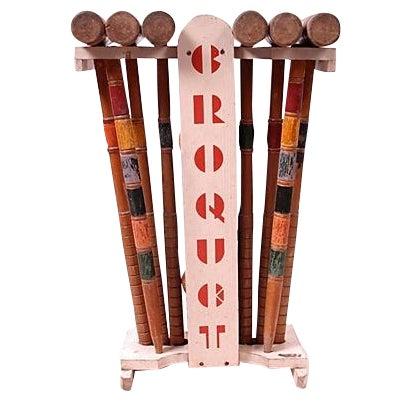 Vintage Croquet Set - 24 Pieces - Image 1 of 7