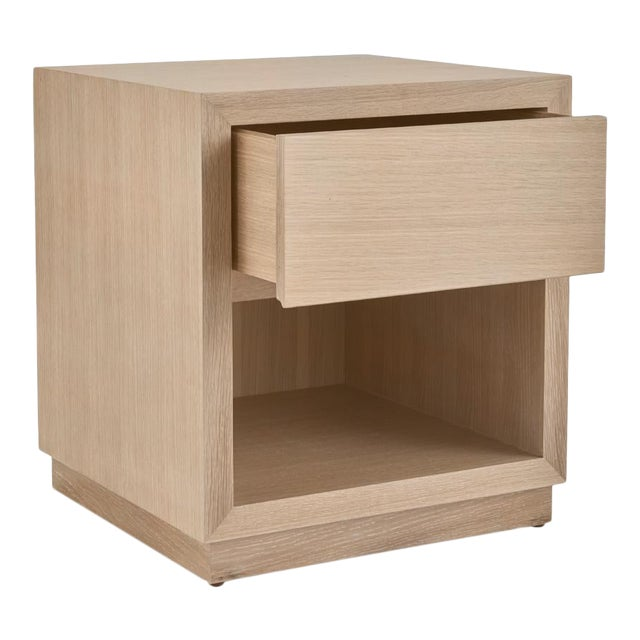 Elza End Table with a Drawer in Natural Oak For Sale