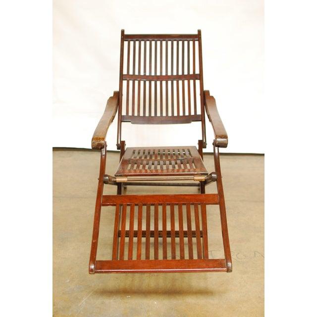 Antique Ocean Steamer Deck Chair - Image 4 of 7