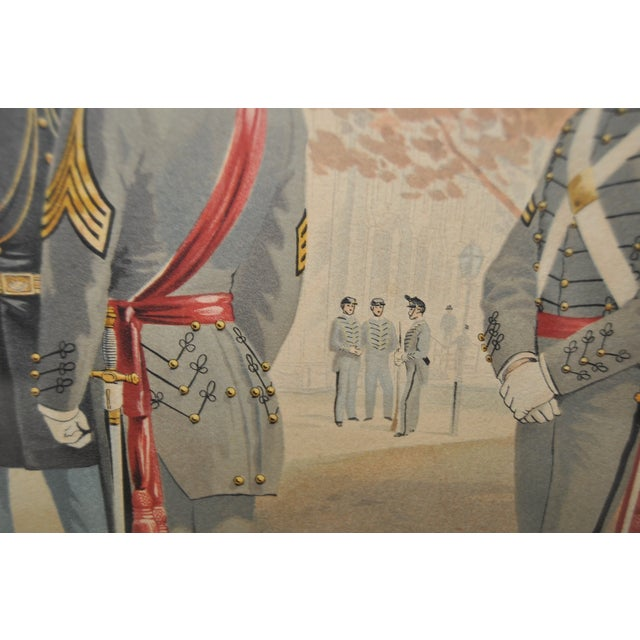 U.S. Military Academy Color Lithograph C.1888 - Image 8 of 10