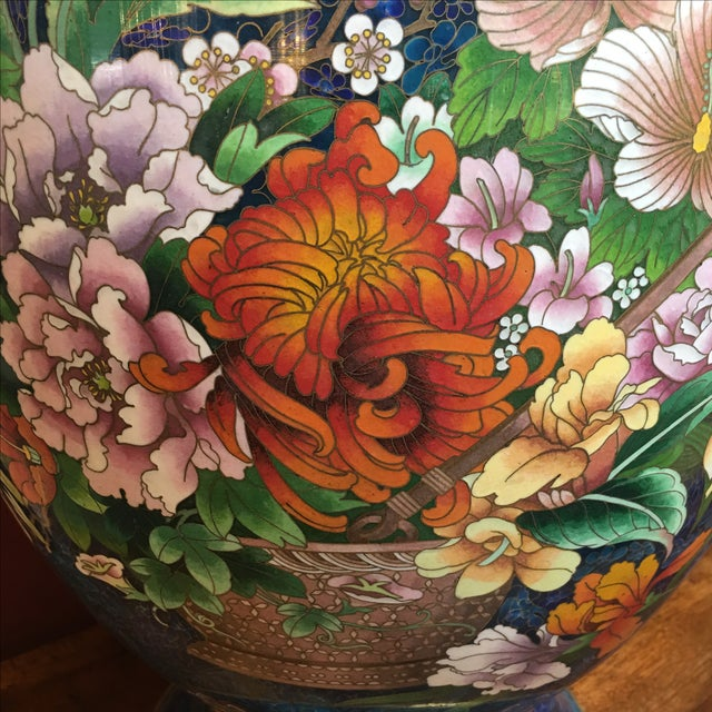 Chinese Cloisonne Style Vases - A Pair - Image 6 of 11